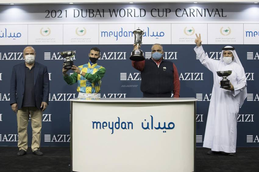 Al Mheiri and Fresu lay down the Law in Military fashion by blowing away rivals in Al Maktoum Challenge R1