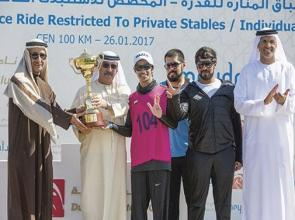 Al Qahtani keeps his young head to ride out a tense finish in the Sheikh Zayed Endurance Cup