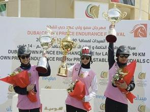 Sheikha Futaim clinches an exciting Dubai Crown Prince Ladies Ride at DIEC