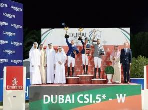 Girls rule on final day of Dubai Show Jumping Championship with Sprunger taking top prize