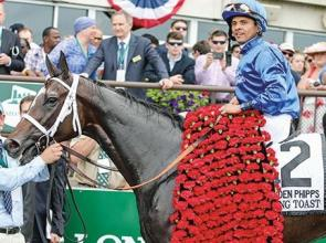 Godolphin Toast Wedding after Grade One victory