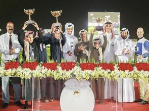 Black Beach's feature success ensures another treble for trainers' championship leader Jassim
